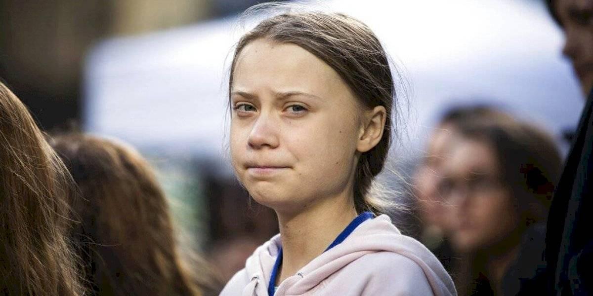 Greta Thunberg lidera protesta ecologista en Los Ángeles
