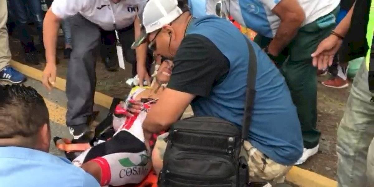 VIDEO. Ciclistas chocan en la etapa final de la Vuelta Ciclística