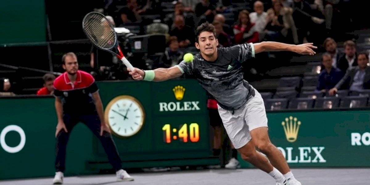 Cristian Garin no pudo con la solidez de Grigor Dimitrov y quedó eliminado en los cuartos de final del Masters 1.000 de Paris-Bercy