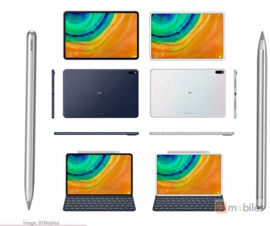 Según reportes, la nueva tablet de Huawei podría parecer un iPad Pro