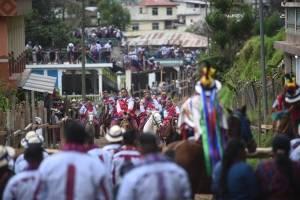 Se llevó a cabo la ancestral Carrera de Cintas en Todos Santos Cuchumatán, Huehuetenango.
