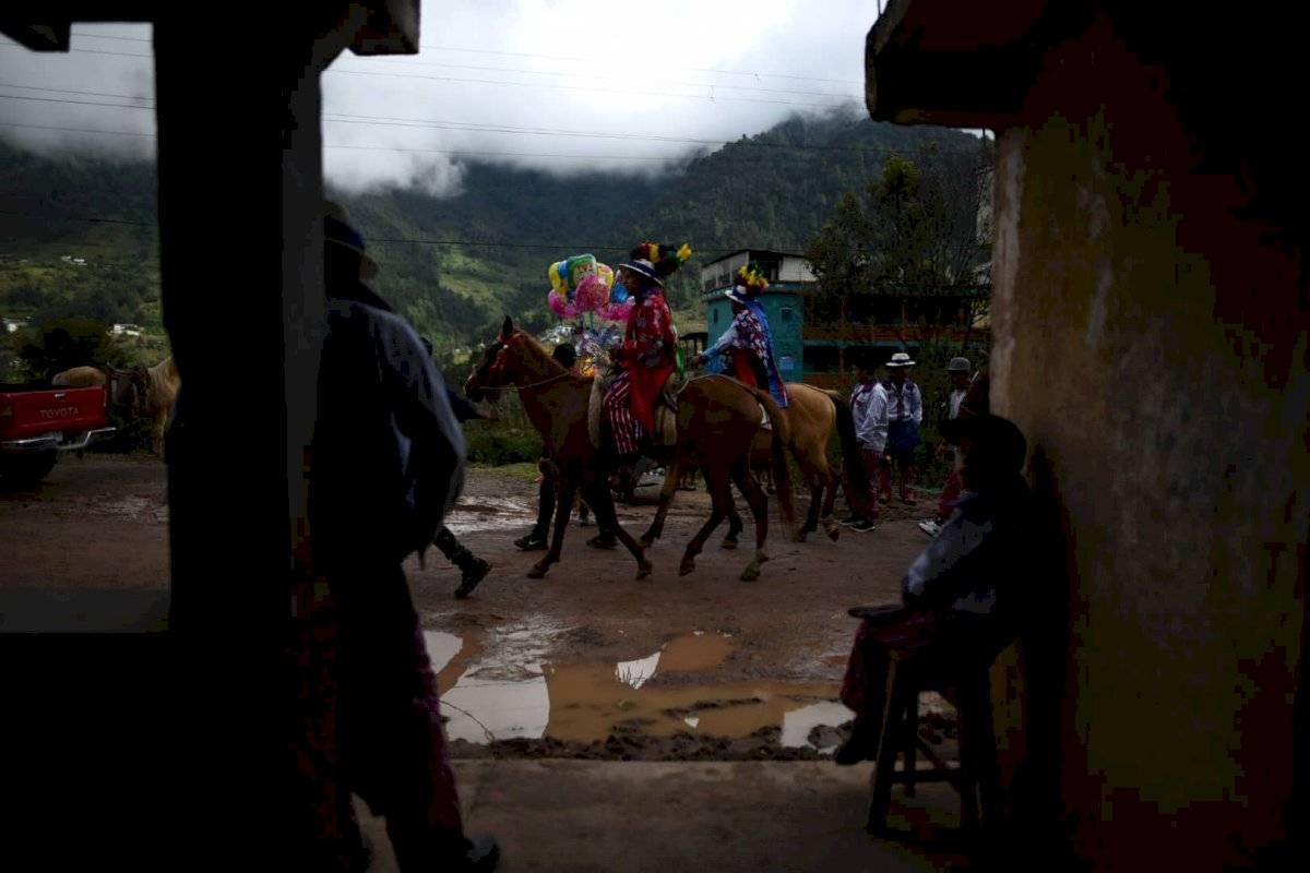 Carrera de Cintas en Todos Santos Cuchumatán, Huehuetenango. Edwin Bercián
