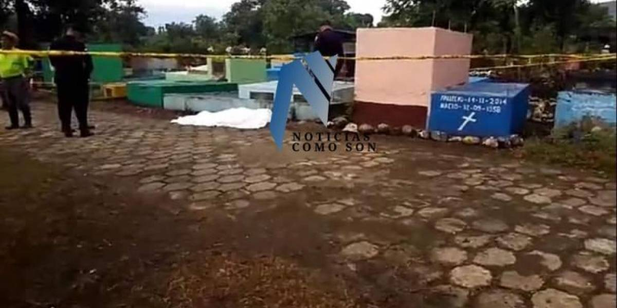 Asesinan a un hombre en el cementerio de Santiago Sacatepéquez