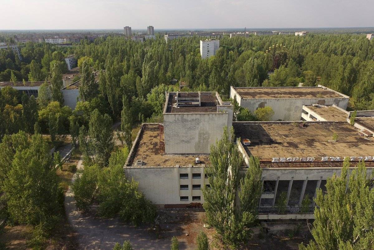 Vista aérea de Chernobyl