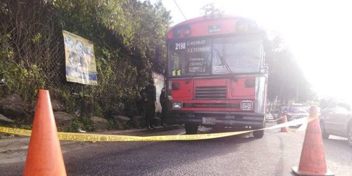 Piloto de bus ruta 11 muere en ataque armado en Mixco