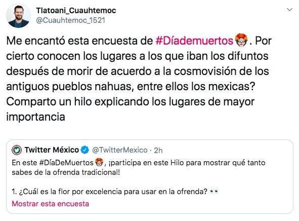 El historiador Enrique Ortiz tuitea sobre el Día de Muertos