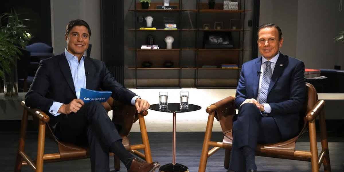 Doria é entrevistado de Sérgio Waib no Giro Business, da Band News