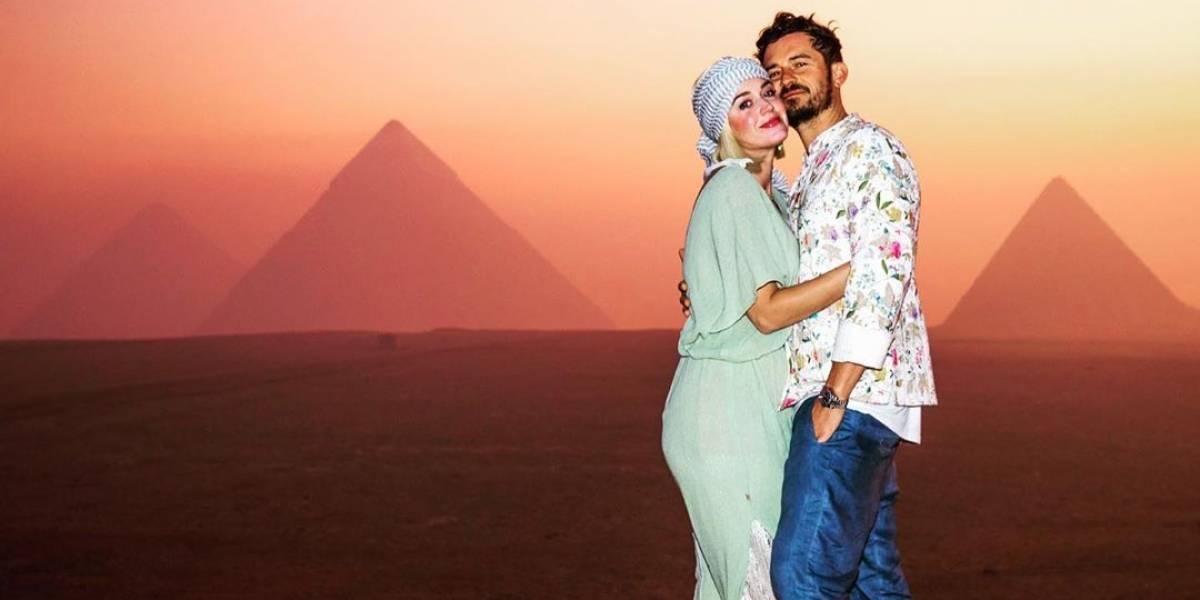 Katy Perry comemora 35 anos ao lado de Orlando Bloom e amigos no Egito