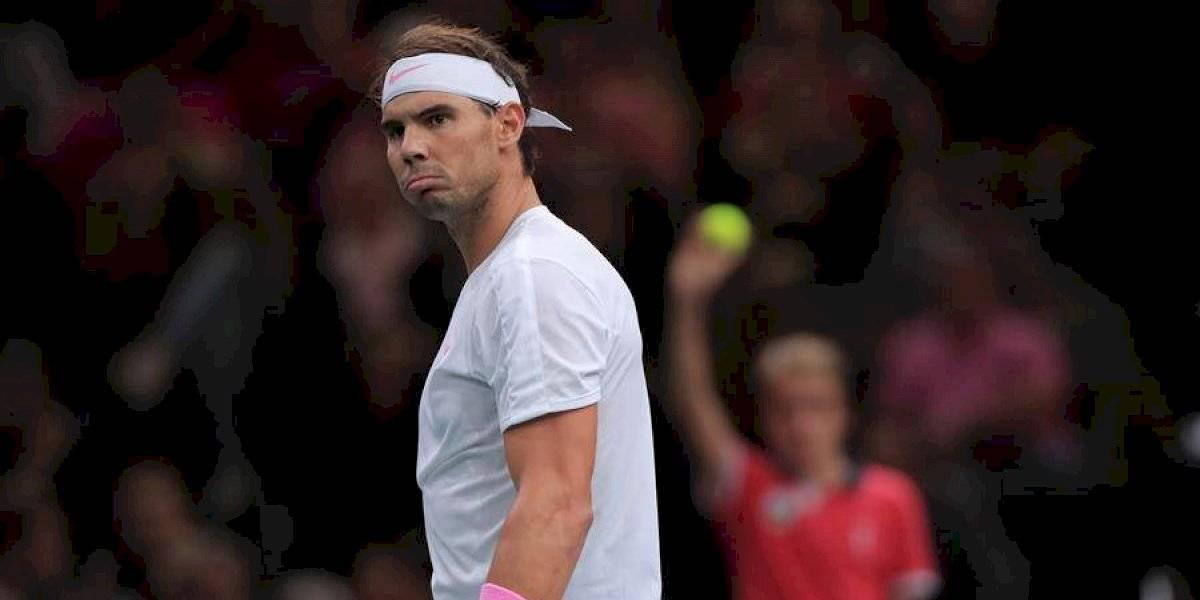 Nadal se lesiona en entrenamiento y no puede jugar la semifinal de París