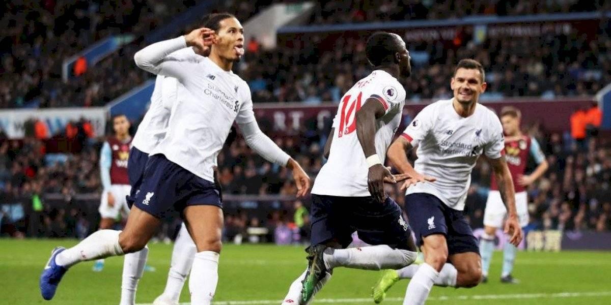 Liverpool lo dio vuelta en la agonía ante Aston Villa y mantuvo su tremendo invicto en la Premier League