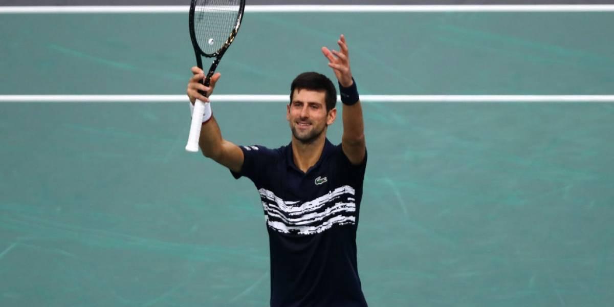 Djokovic derrotó en un duro partido a Dimitrov y avanzó a la final del Masters 1.000 de París-Bercy