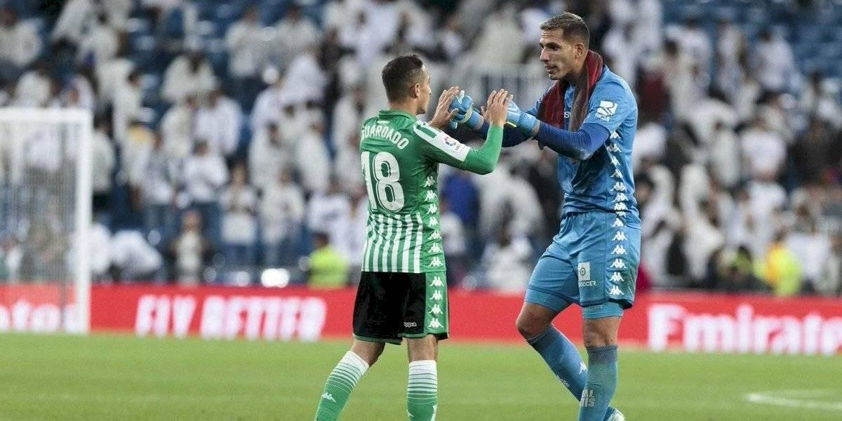 Andrés Guardado fue capitán del Betis en el empate ante el Madrid