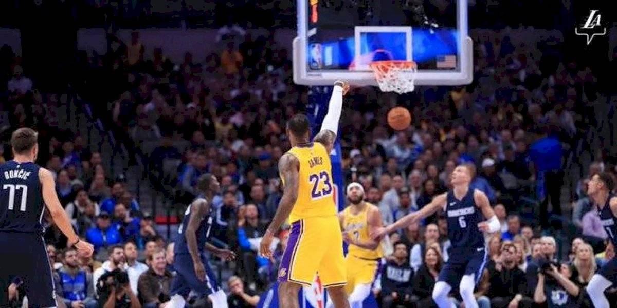 NBA: Lebron James lideró la victoria de Los Ángeles Lakers ante Dallas Mavericks