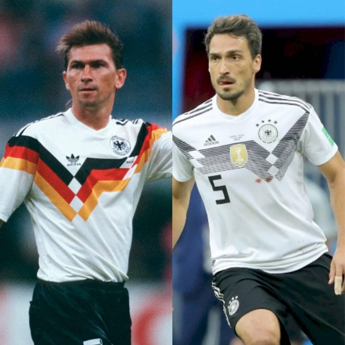 Camisetas Alemania en 1990 y 2018