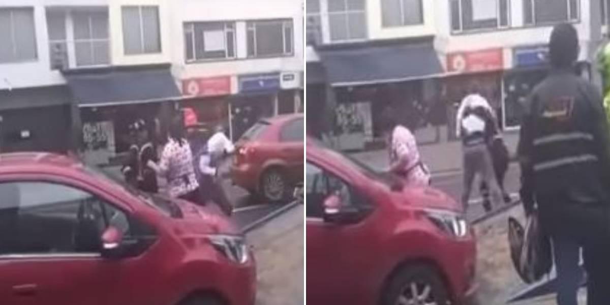 (VIDEO) Fuerte pelea entre operario de grúa y dueño de vehículo se presentó en Bogotá