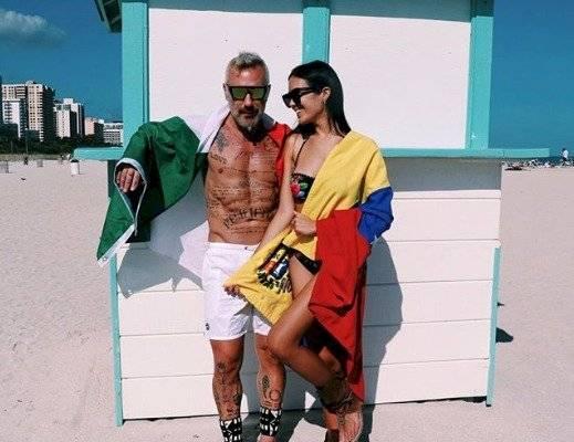 Sharon Fonseca y Gianluca Vacchi