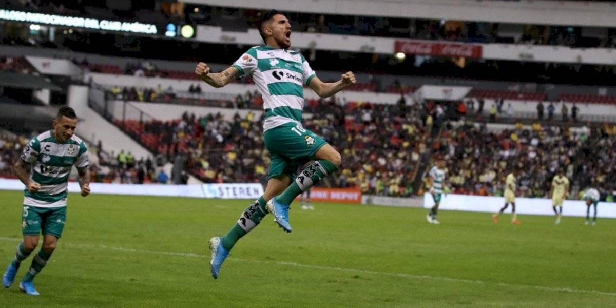Liga MX: Diego Valdés anotó de cabeza en la remontada de Santos Laguna al América de Nico Castillo