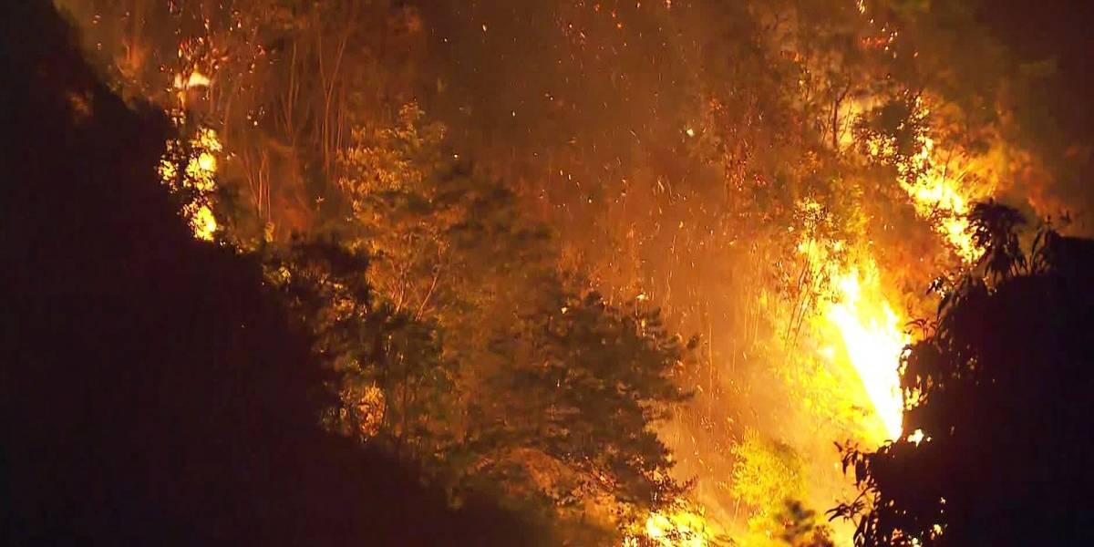 Incêndio atinge área verde próxima ao Parque do Carmo