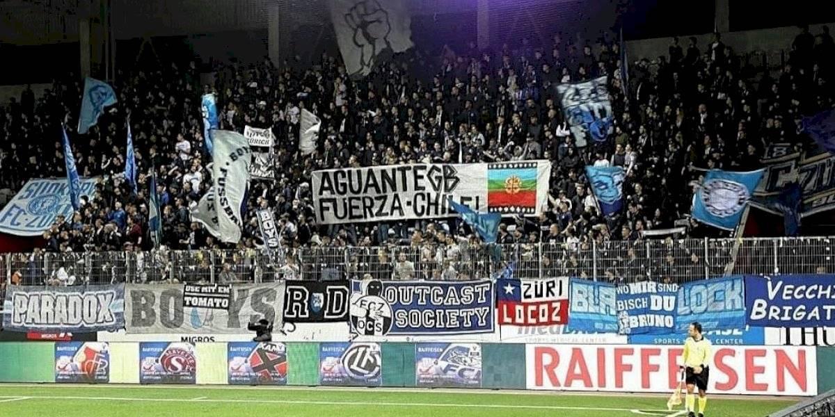 """""""Fuerza Chile"""": el insólito mensaje de apoyo de la barra brava de Zurich por el estallido social"""