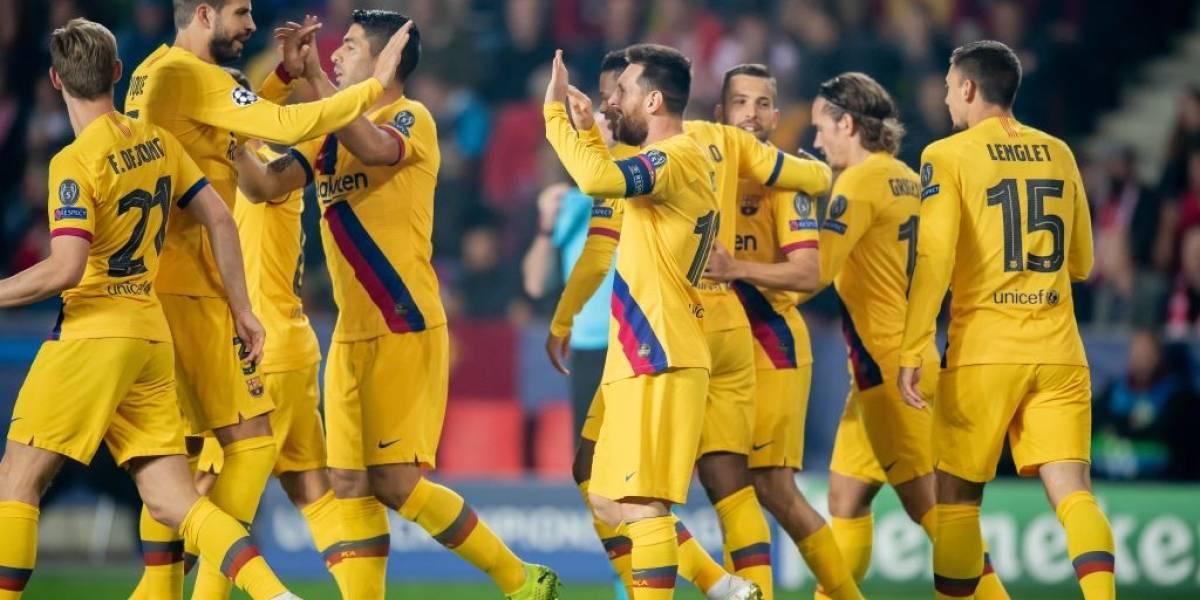 Barcelona de Arturo Vidal va por el boleto a octavos de final de la Champions League ante Slavia Praga