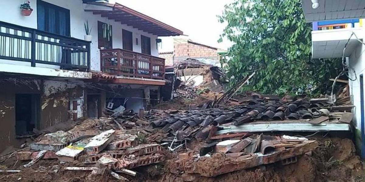 Trágica noche vivió Jericó por inundaciones y deslizamientos