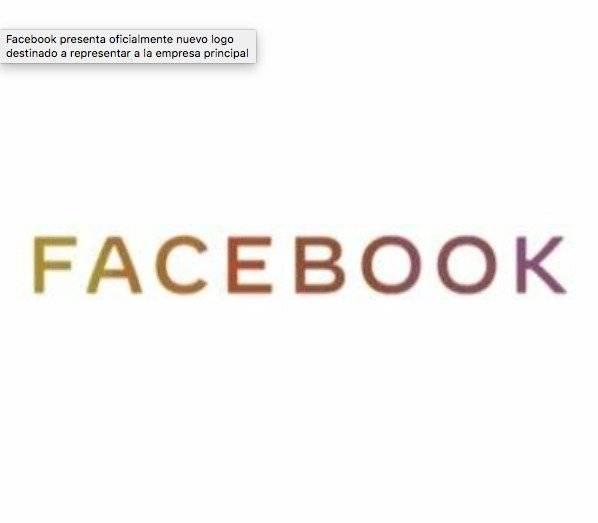 Nuevo logo de Facebook