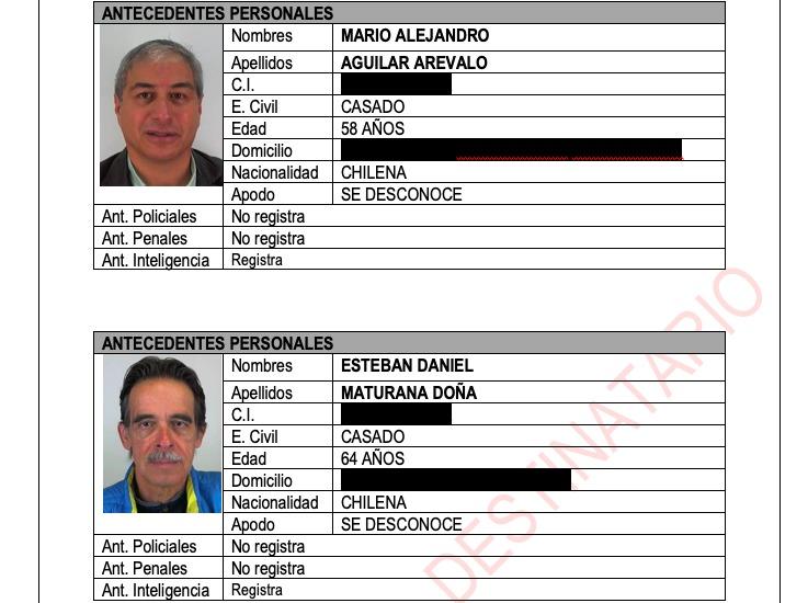 Carabineros de Chile creó fichas de diversos líderes sociales para vigilarlos constantemente