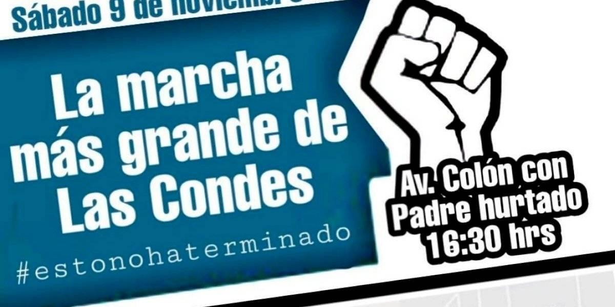 """¿Nuevo punto de encuentro? """"Porque la lucha continúa"""", convocan a la """"marcha más grande de Las Condes"""""""