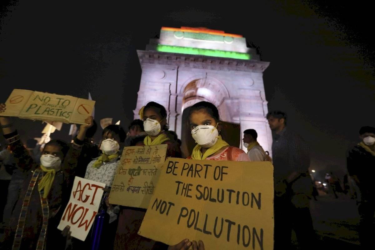 Manifestaciones el Nueva Delhi contra la contaminación