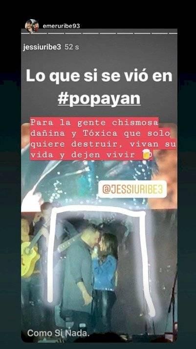 Captura de pantalla Instagram Jessi Uribe