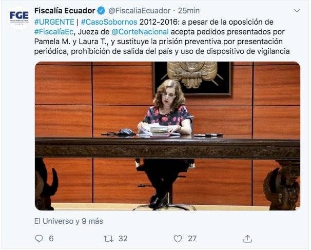 Decisión de la Fiscal Daniella Camacho
