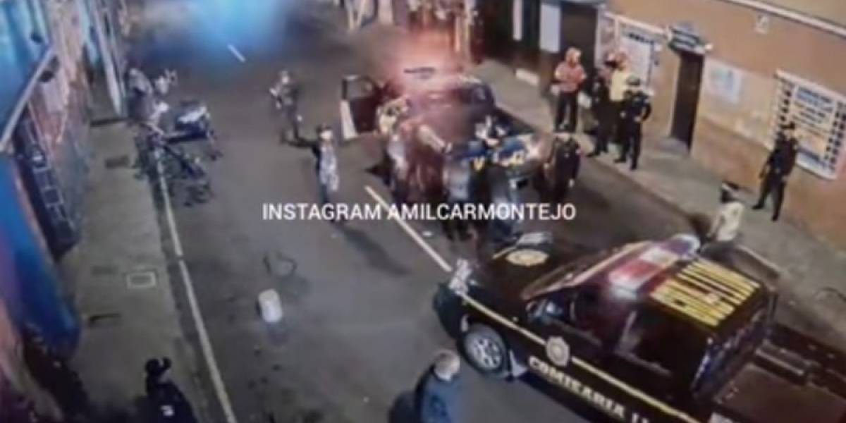 VIDEO. Detienen a persona por disparar al aire en estado de ebriedad