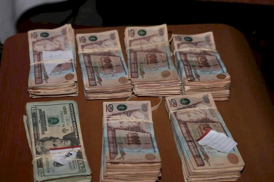 Dinero en efectivo localizado por la PNC