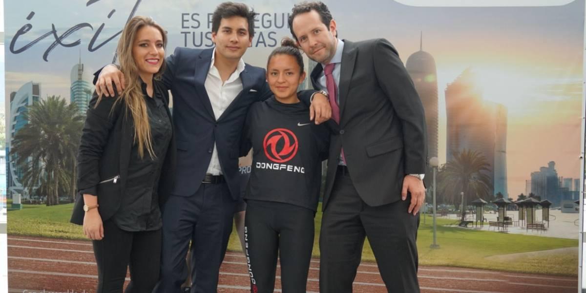 Dongfeng entregó un Glory 580 a la atleta ecuatoriana Glenda Morejón