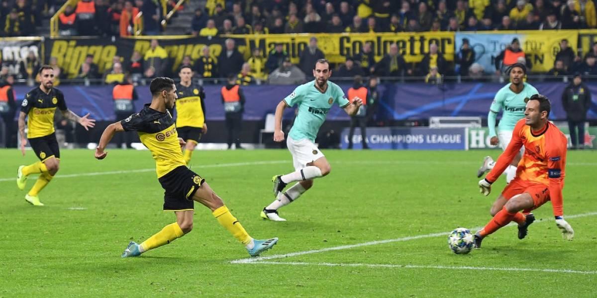 Borussia Dortmund remontó en un partidazo y complicó al Inter de Alexis en la Champions League