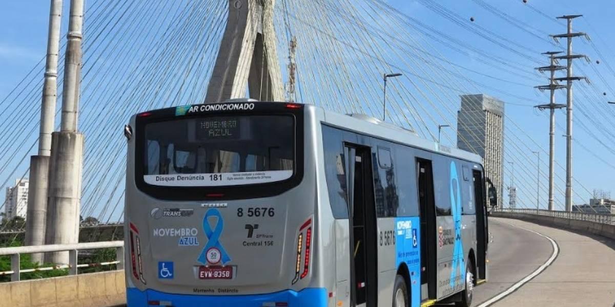 Novembro Azul: Ônibus pintado em São Paulo conscientiza sobre câncer de próstata