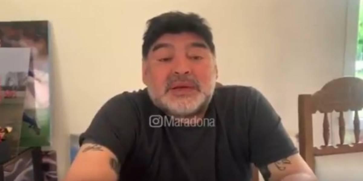 VIDEO. Maradona se manifiesta por las publicaciones de su hija