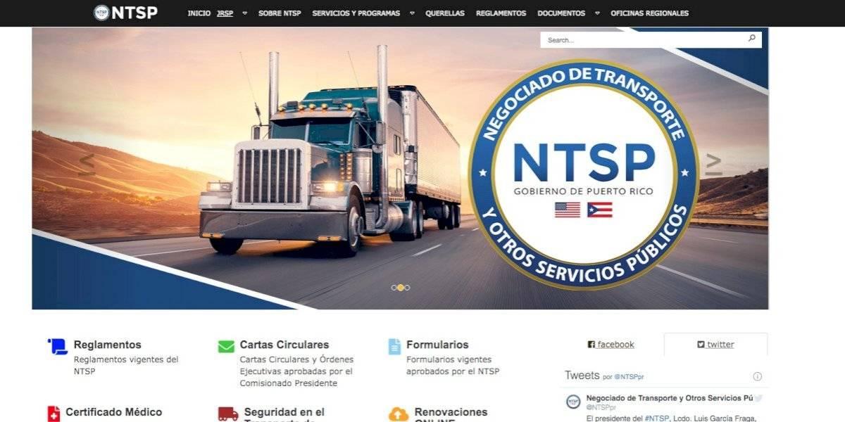 Negociado de Transporte estrena nueva página digital