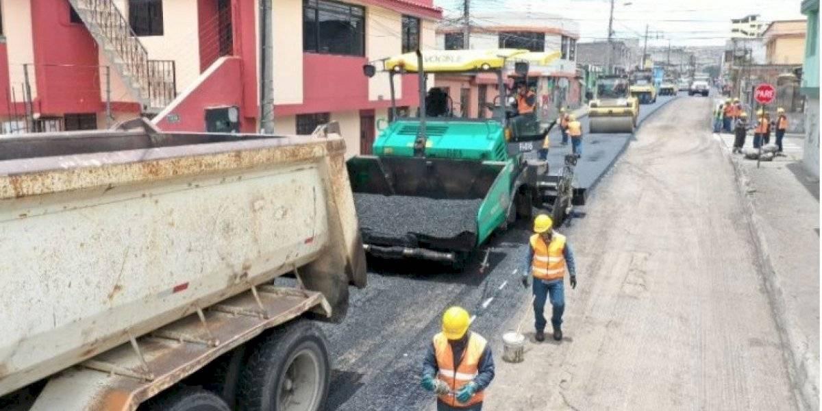 En qué vías se reinicia la repavimentación en Quito el 18 de mayo