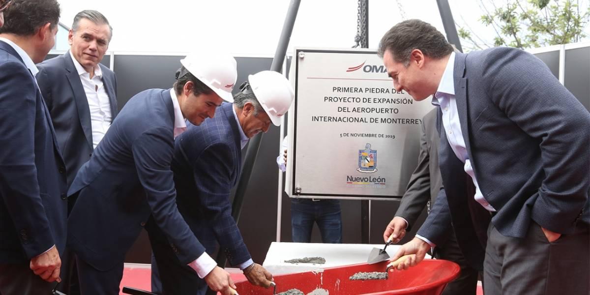 Arrancan trabajos de extensión del Aeropuerto Internacional de Monterrey