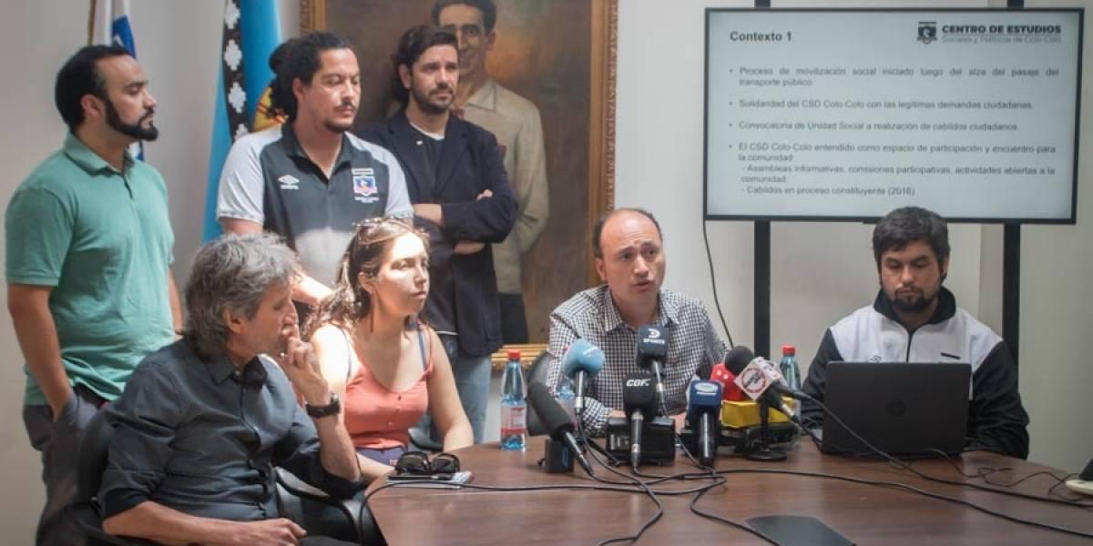 Una nueva constitución, cambio del sistema económico y que Colo Colo vuelva a sus socios son las demandas del cabildo albo