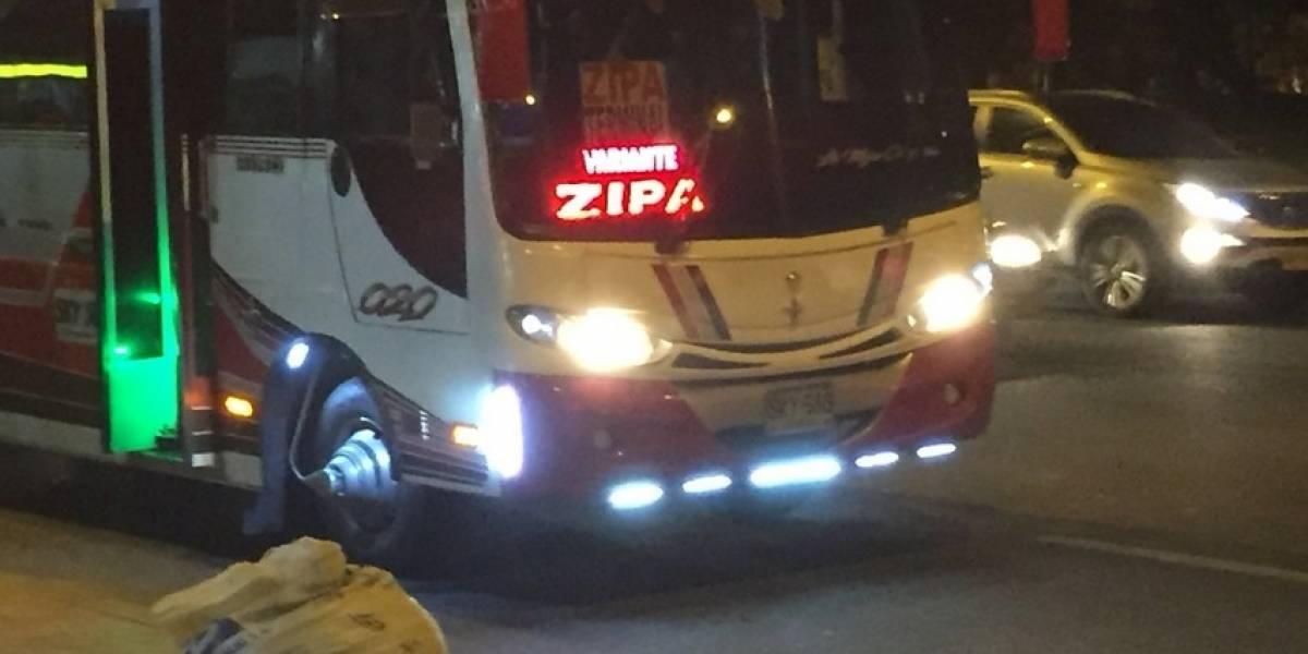 Ladrones no se bajan de los buses intermunicipales al norte de Bogotá