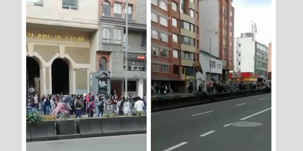(VIDEO) Fuertes disturbios entre Esmad y estudiantes en Bogotá