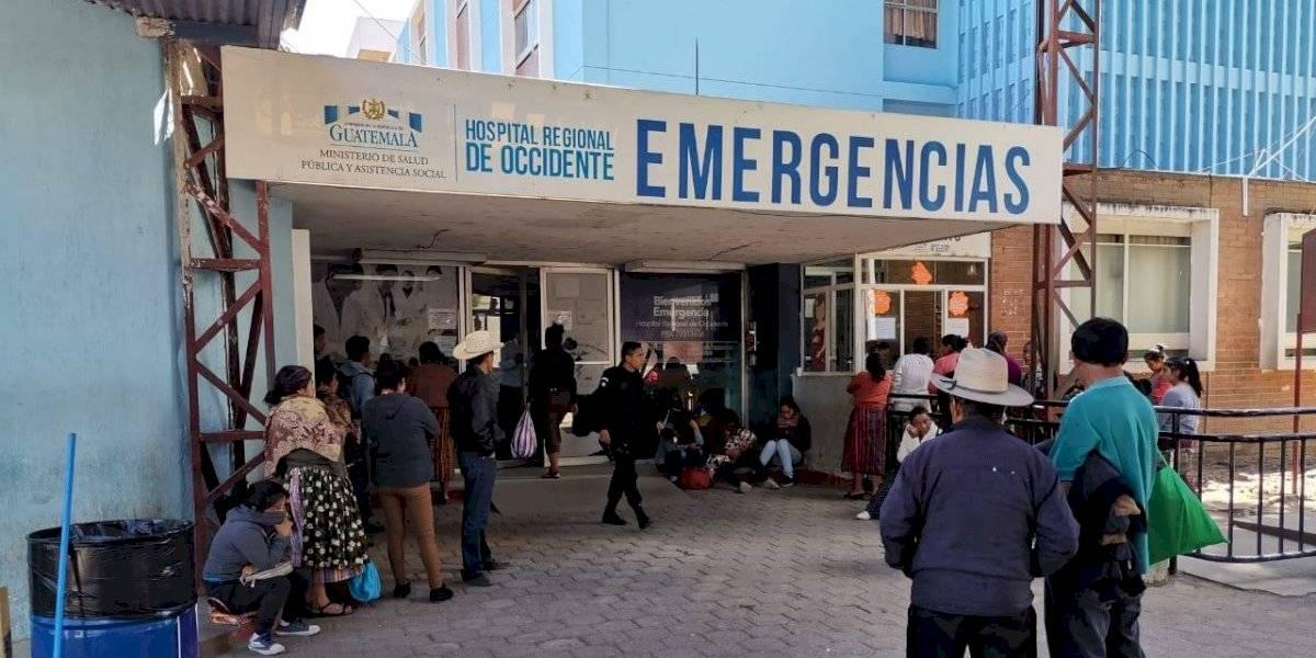 Hospital de Quetzaltenango atiende entre 15 y 20 reos al mes