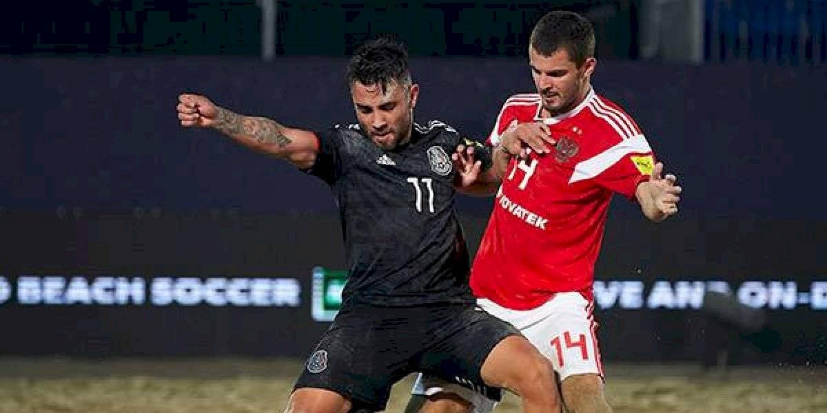 México cae ante Rusia en Copa Intercontinental de futbol de playa