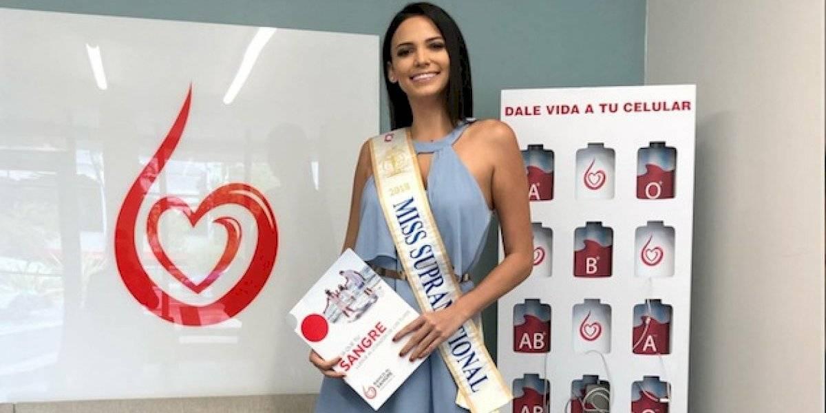 Miss Supranational 2018 invita a donar sangre para salvar vidas
