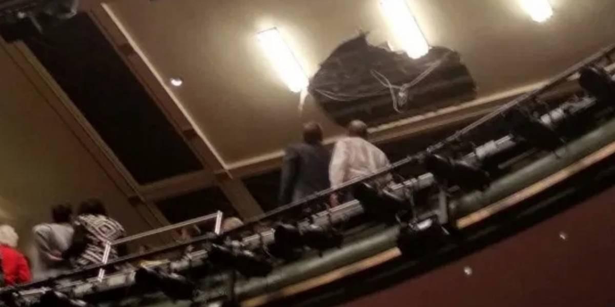 Reportan heridos tras colapsar techo de teatro en Londres