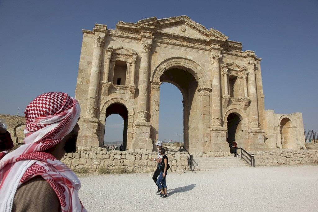 Sitio arqueológico en Jordania