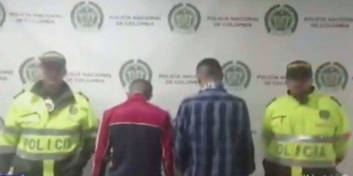 Delincuentes fueron capturados cuando acababan de cometer millonario robo en supermercado de Bogotá