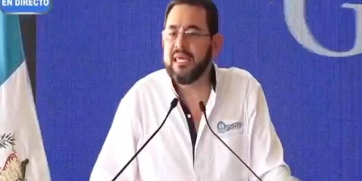 """VIDEO. Jimmy Morales asegura que no saldrá """"huyendo el 14"""" de enero"""